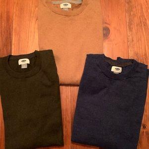 Old Navy Long Sleeved 3 Color Sweater Bundle